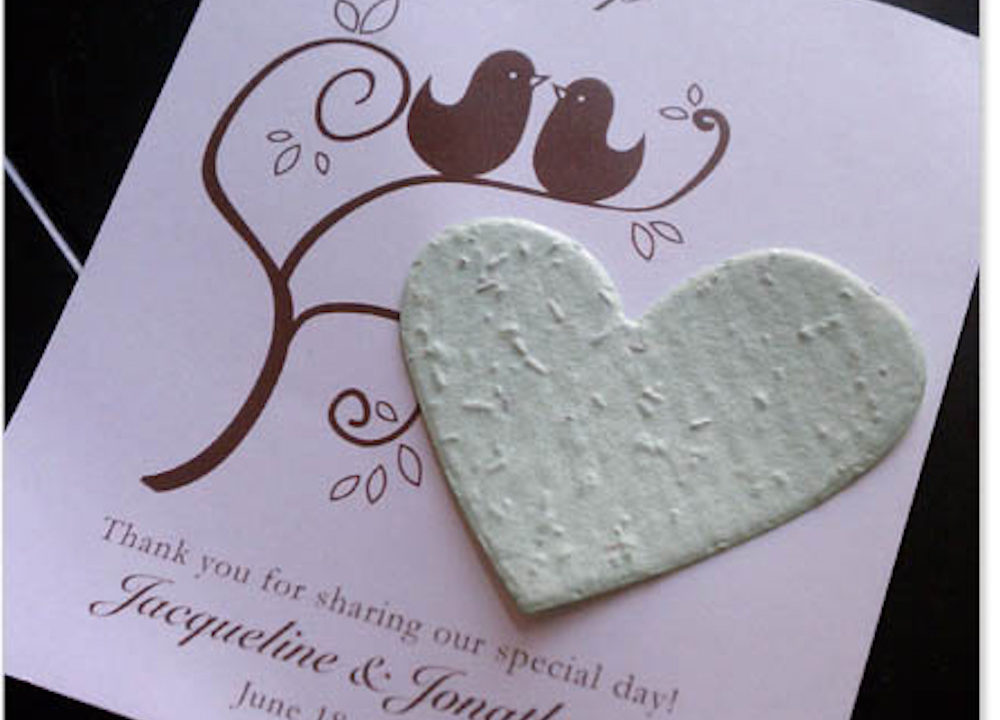 seed paper wedding favors