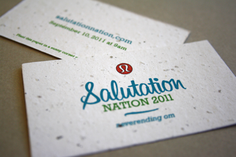 lululemon Plantable Seed Cards