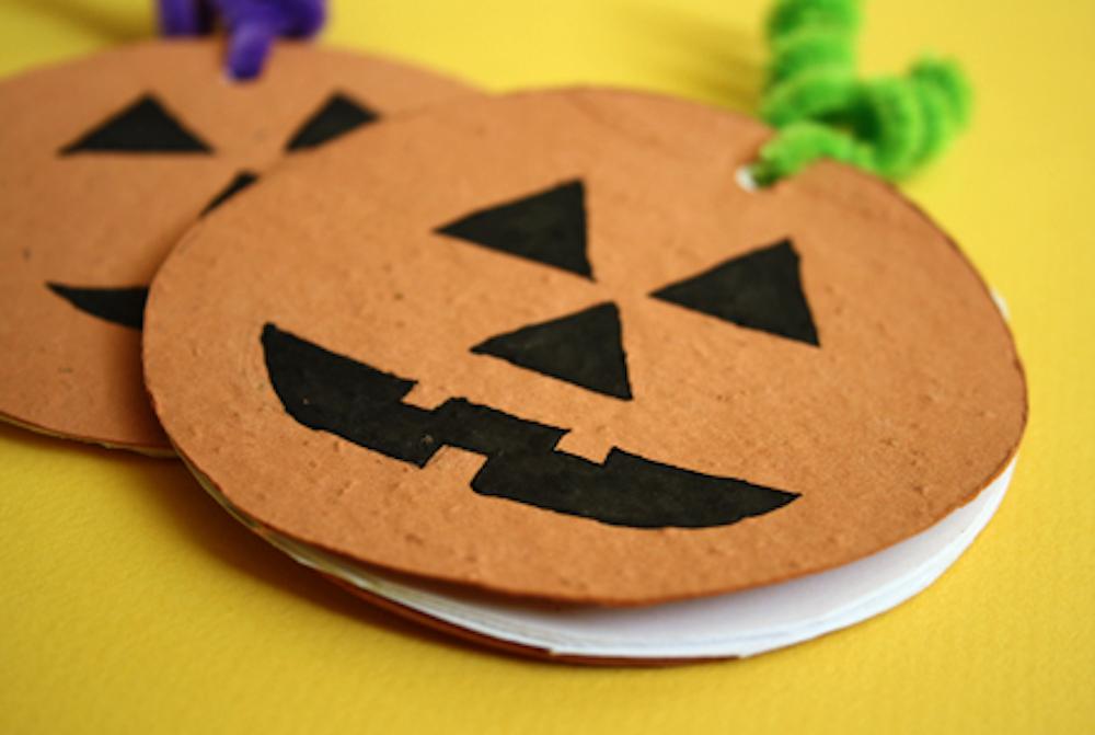 Plantable Pumpkin Notepad Craft DIY