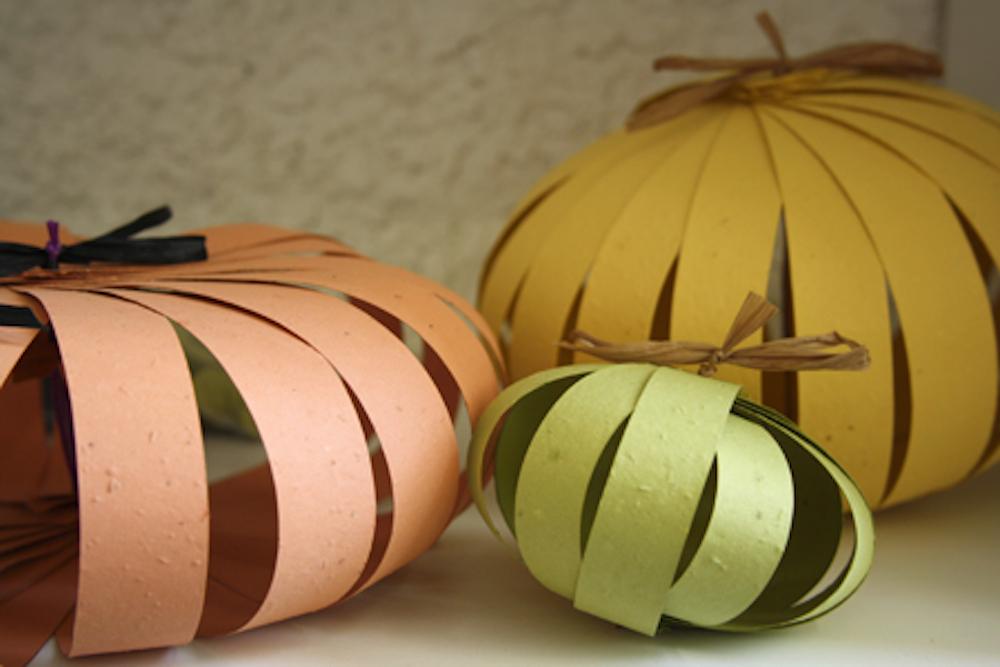 Easy Halloween Craft: Plantable Paper Pumpkin