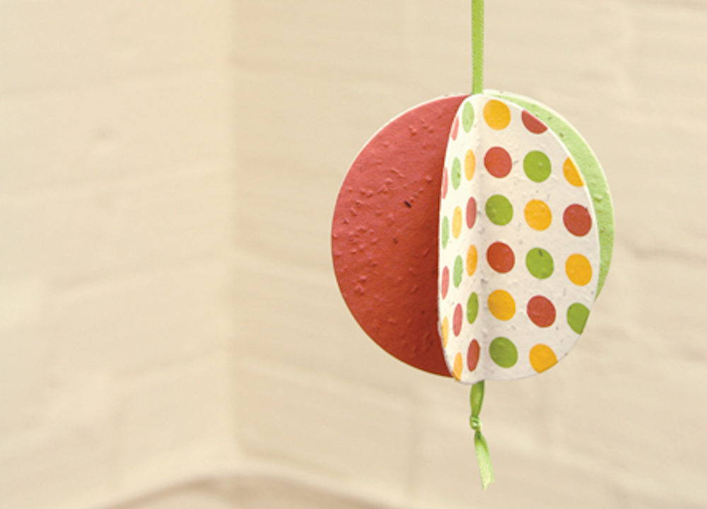 Seed Paper Ornament DIY Craft