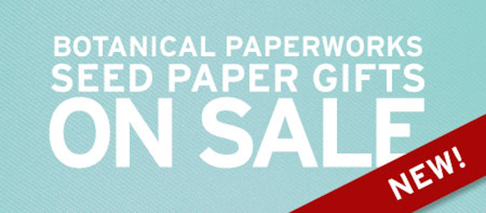 New Seed Paper Sale Items Page