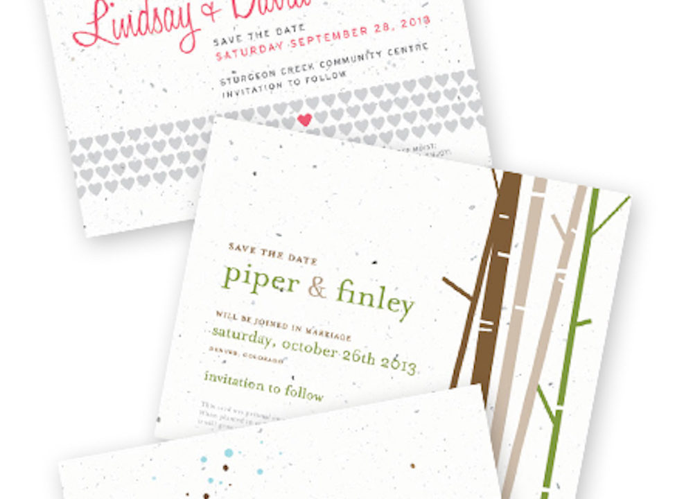 New Plantable Save the Date and Menu Cards
