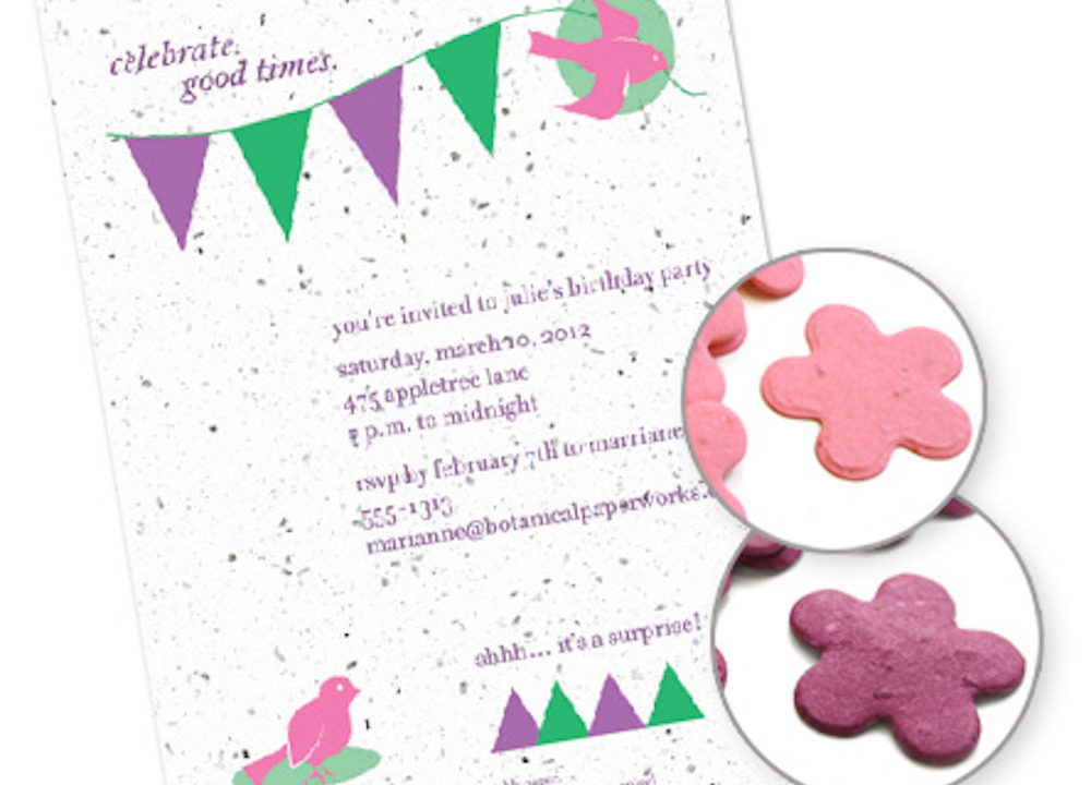 Plantable Invitations and Favors Reviewed on The Centsible Family