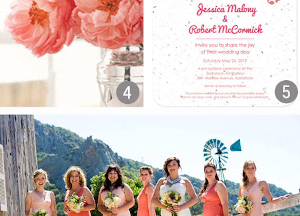 {inspiration board} Coral and Pink Wedding Ideas