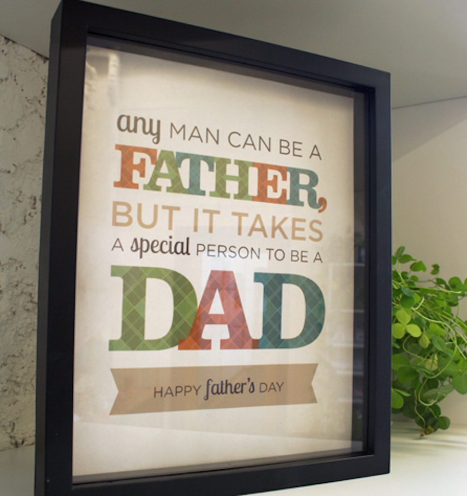 Free Printable Wall Art for Father's Day