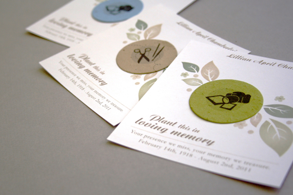 New Hobby-based Plantable Memorial Cards and Bookmarks