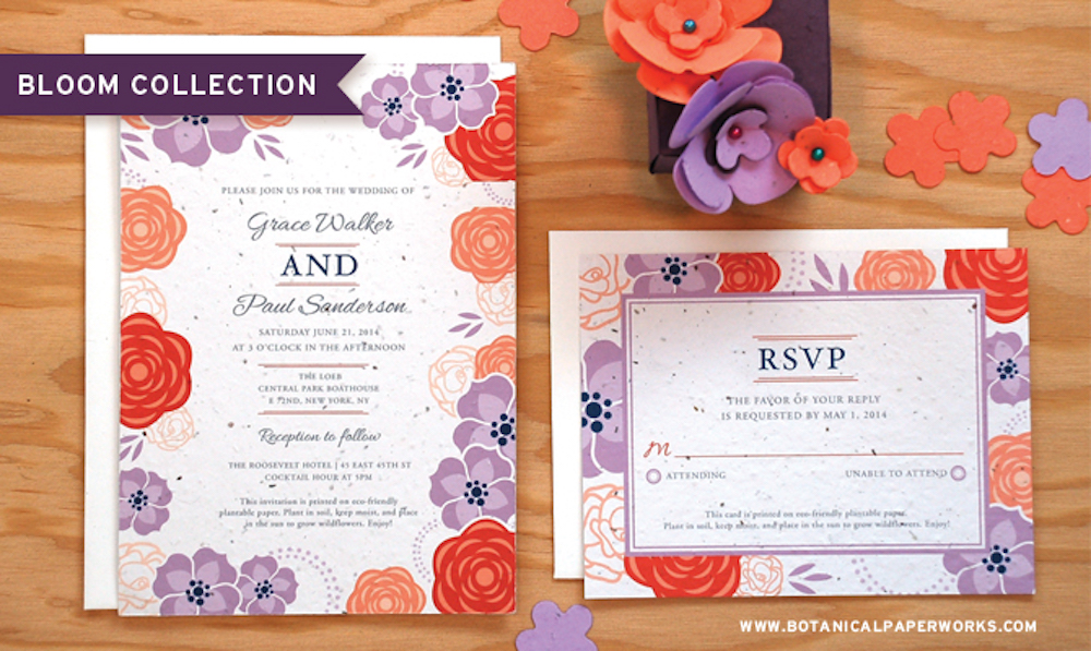 New Bloom Wedding Collection + 30% Off Seed Paper Sale