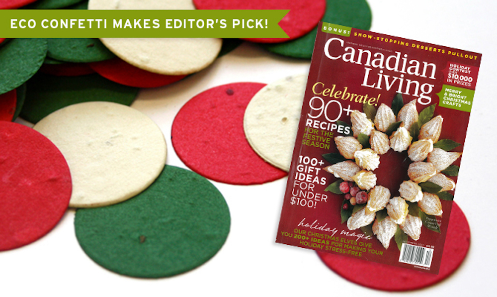Christmas Eco Confetti Featured in Canadian Living