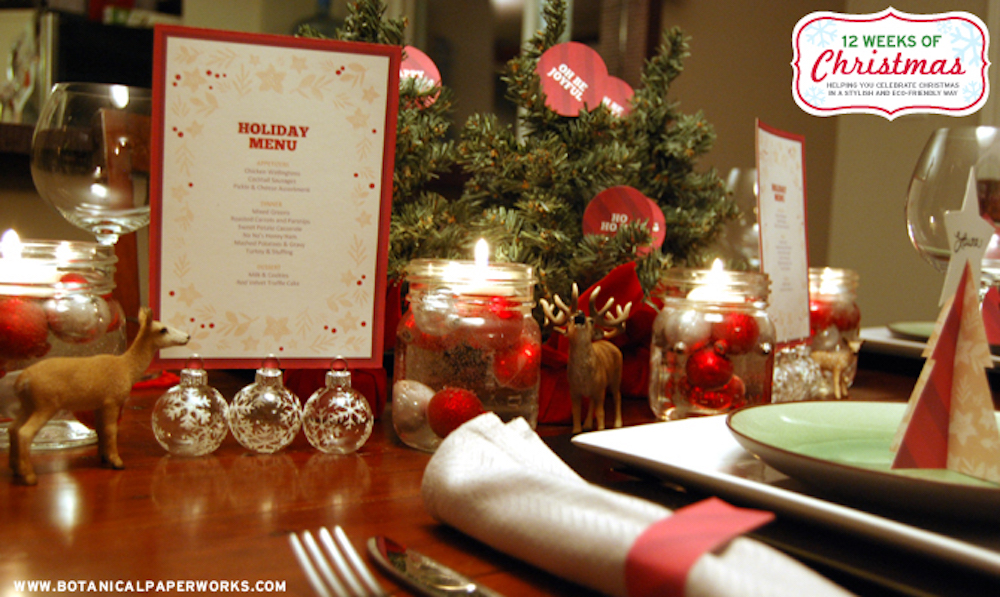{free printable} Holiday Dinner Decor
