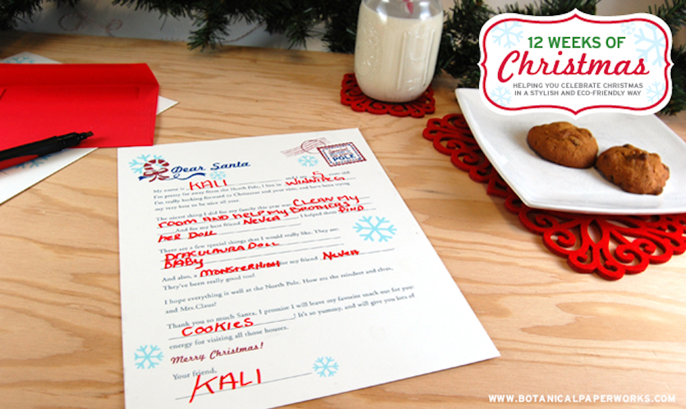 {free printable} Fill-in-the-Blank Letter to Santa