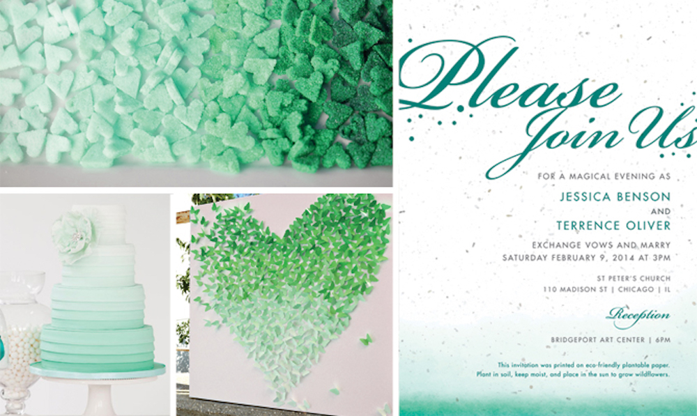 {inspiration board} Ombre Wedding