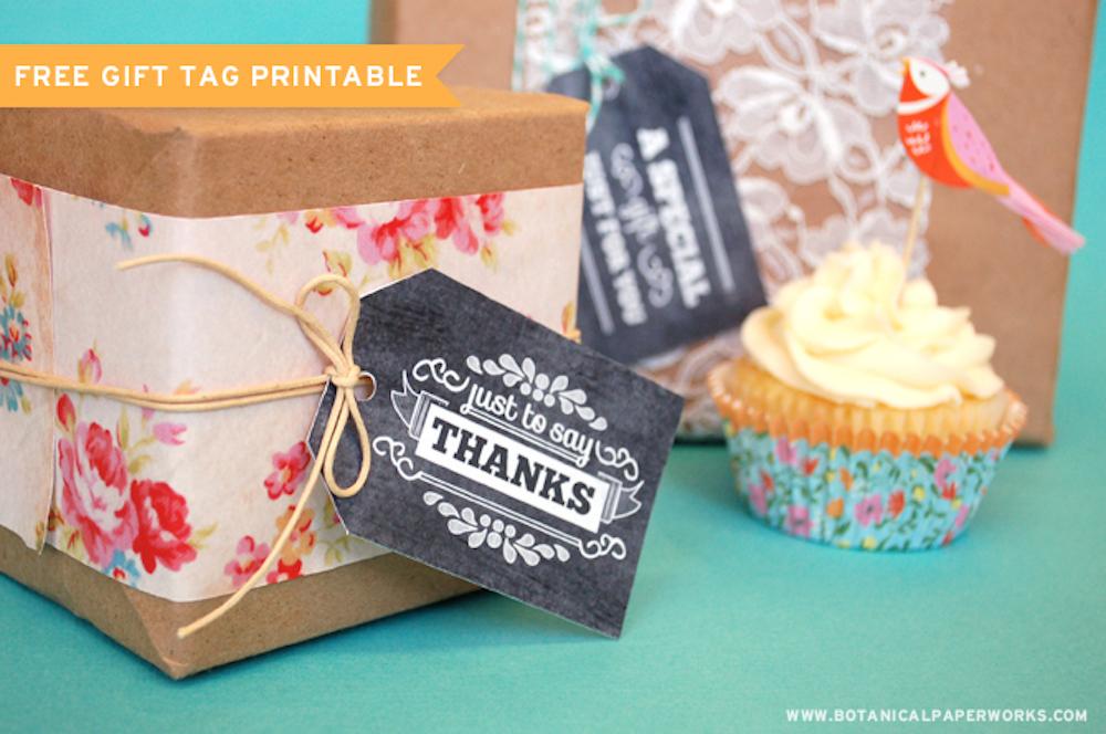 {free printable} Chalkboard Gift Tags
