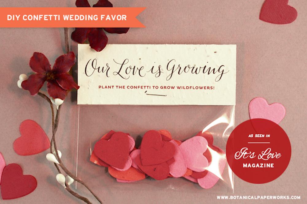 {free printable} DIY Confetti Wedding Favors