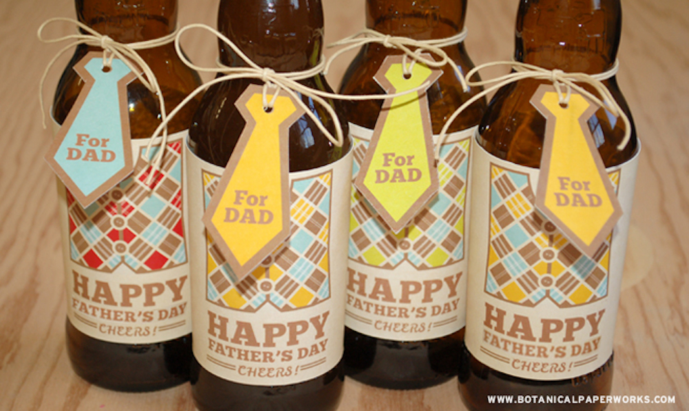 {free printable} Father's Day Bottle Labels and Tags