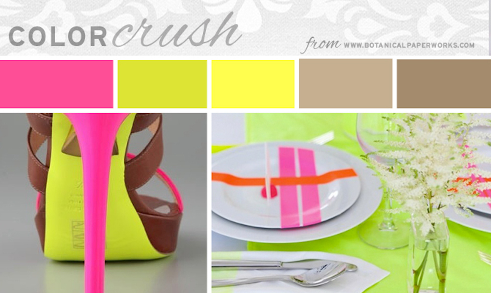 {inspiration board} Color Crush - Neons and Neutrals