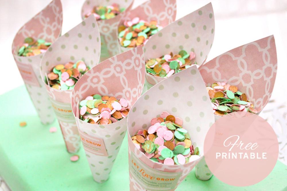 {free printable} Biodegradable Confetti Cones and DIY tutorial