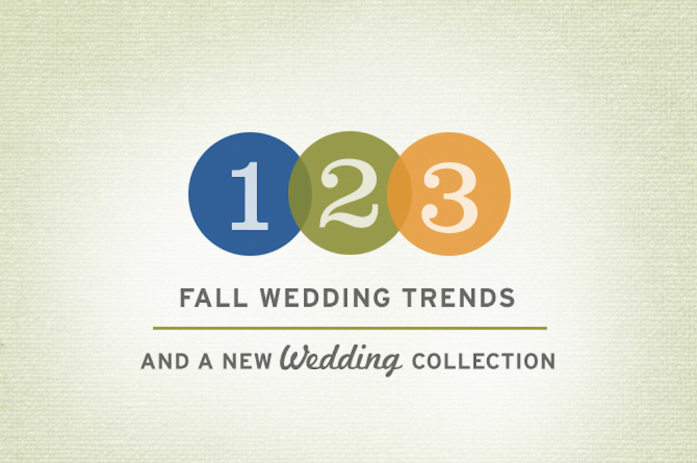 Three Fall Wedding Trends + a New Wedding Collection