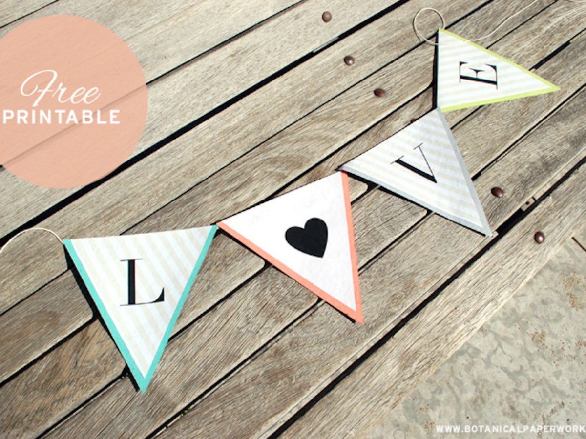 free printable} Alphabet Banner for All Occasions - Botanical Pertaining To Free Letter Templates For Banners