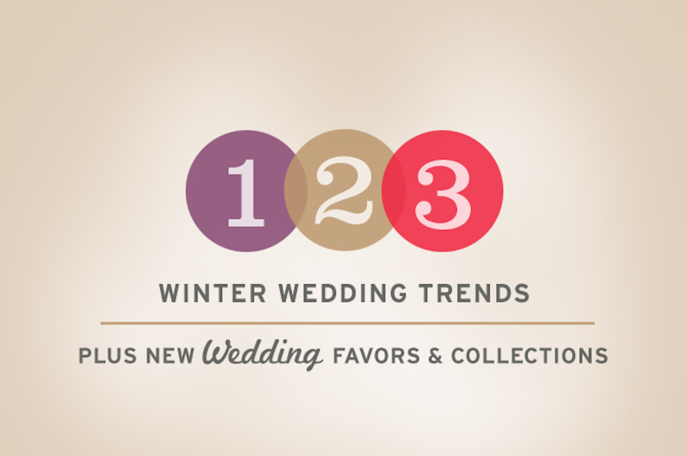 Three Winter Wedding Trends + New Wedding Collections and Favors