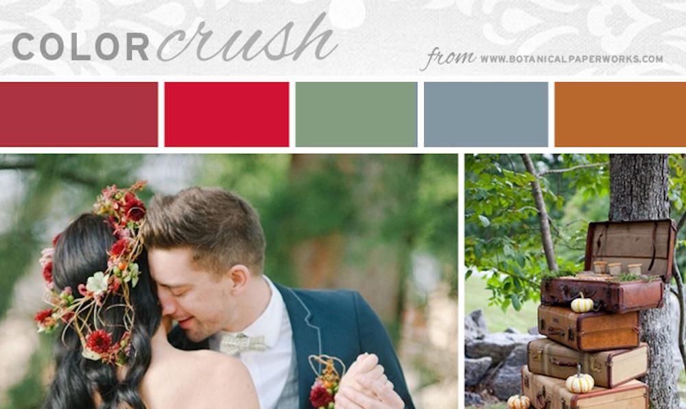 autumn wedding colors inspiration board