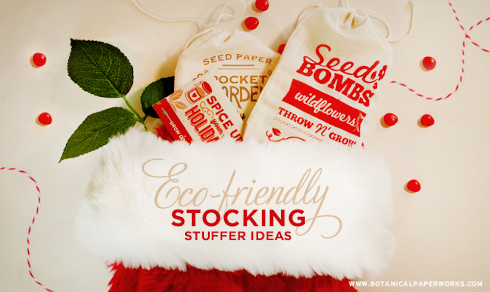 Eco-friendly Stocking Stuffer Ideas - plantable seed paper gifts