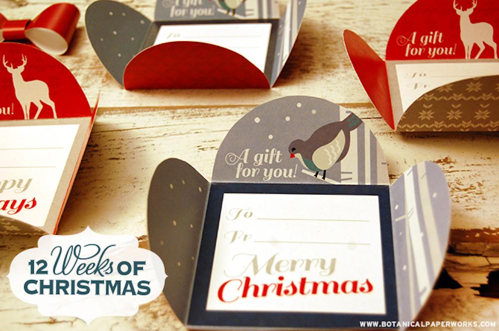 Holiday Petal Card Printables