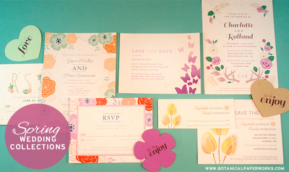 Plantable Spring Wedding Stationery On Trend with Pantone's 2014 Color Report