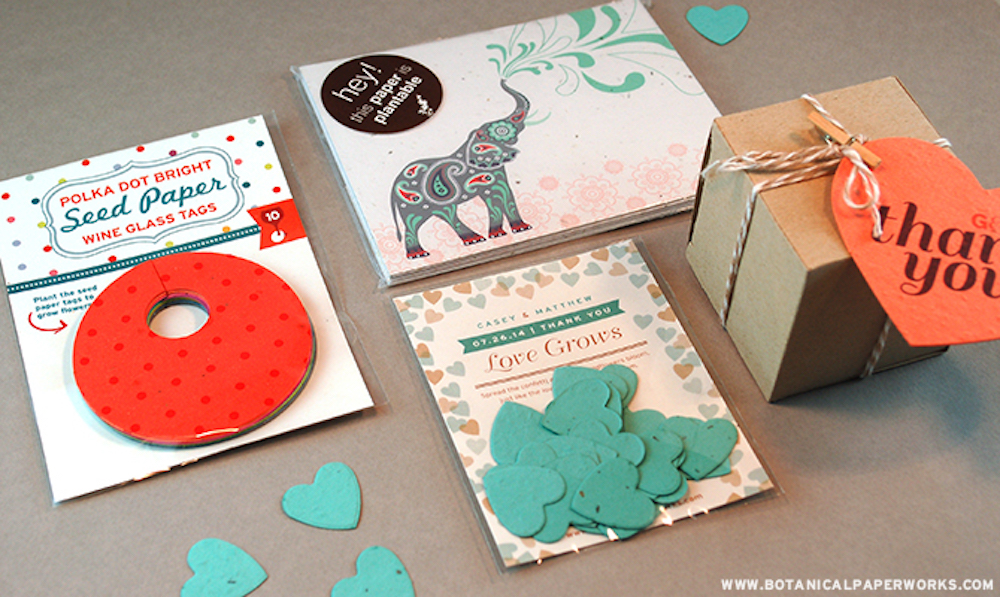 Green Gifts Guide with plantable seed paper gifts