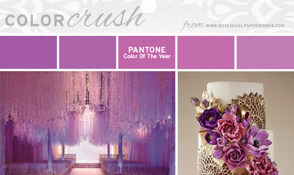 Radiant Orchid Wedding Colors Inspiration
