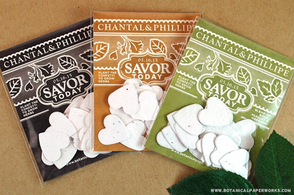 New Vintage Garden Herb Confetti Favor