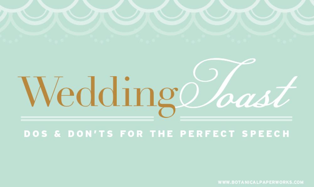 {free printable} Wedding Toast Do's and Don'ts