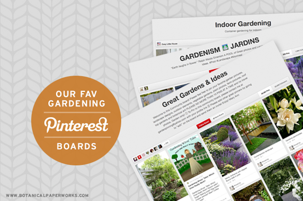 Gardening Pinterest Boards