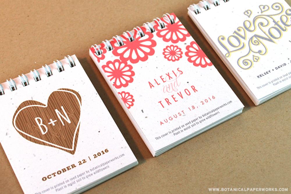 New Mini Notepad Wedding Favors