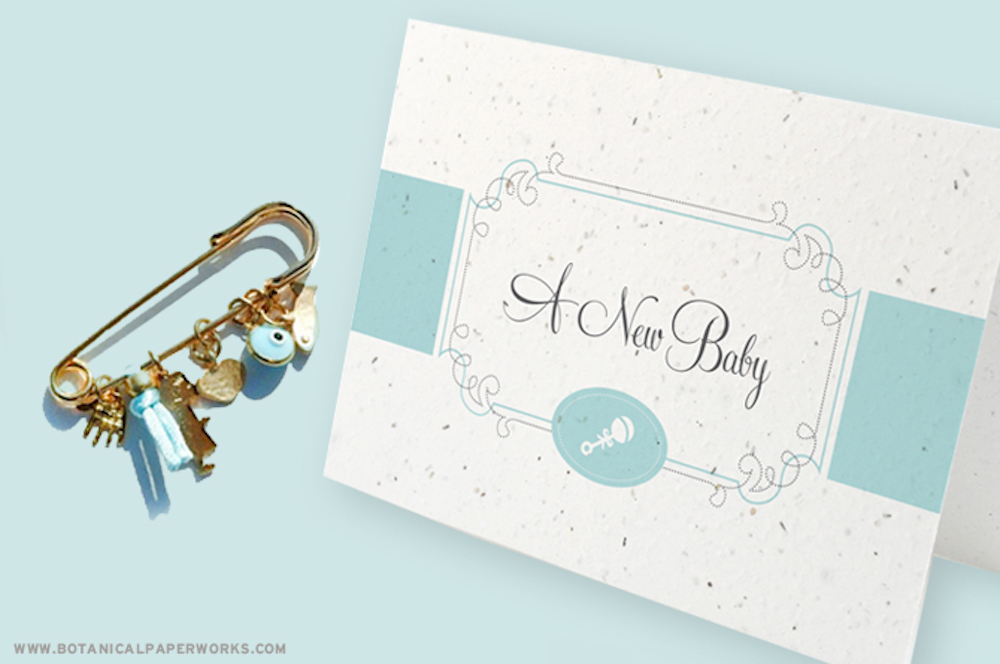 Baby Boy Shower seed paper card
