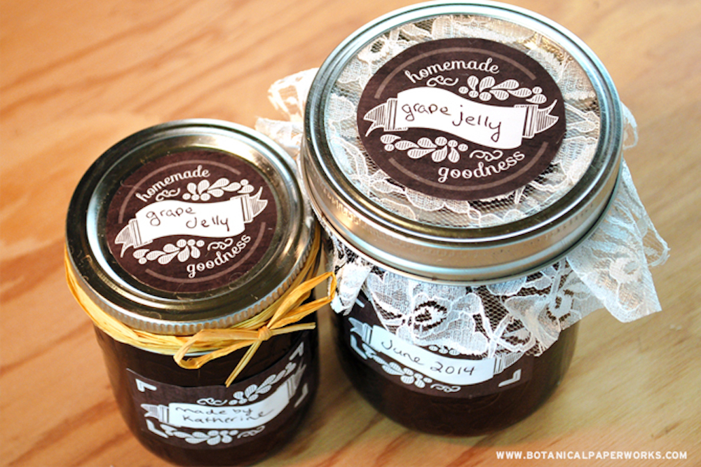 {free printable} Chalkboard Canning Labels