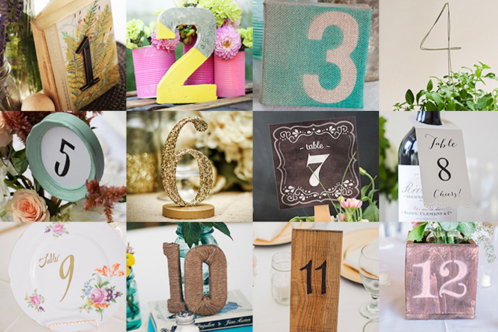 12 DIY Table Numbers