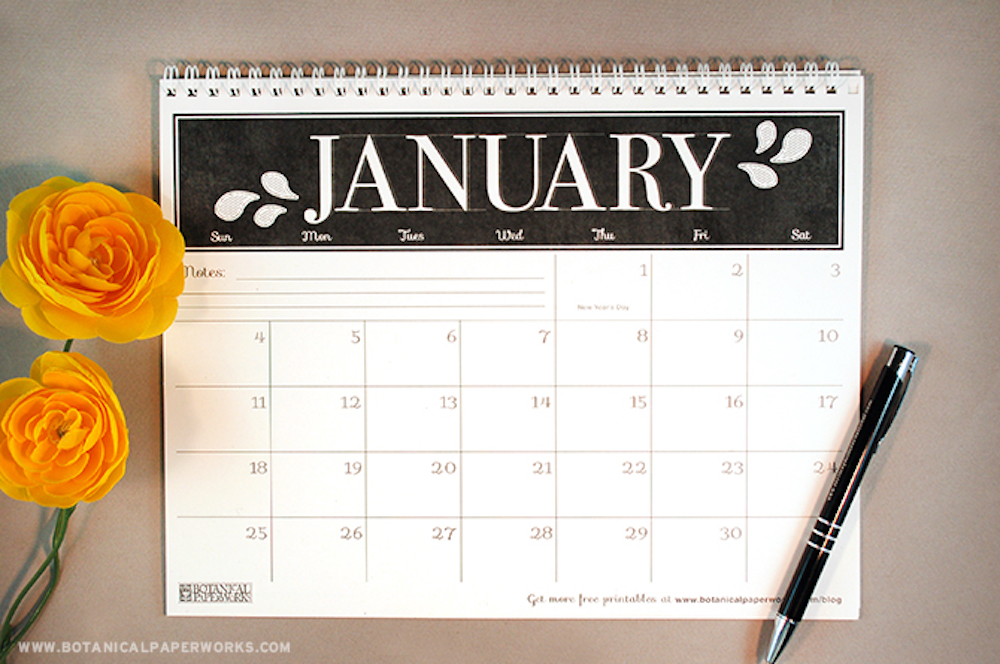 {free printable} 2015 Monthly Calendar