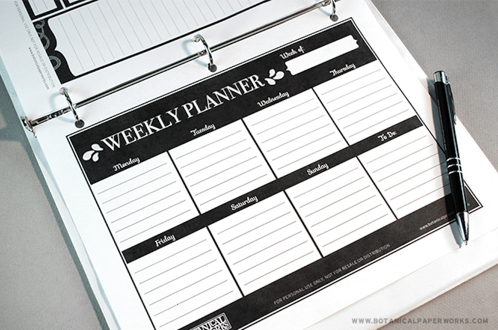 {free printable} Weekly Planner Pages