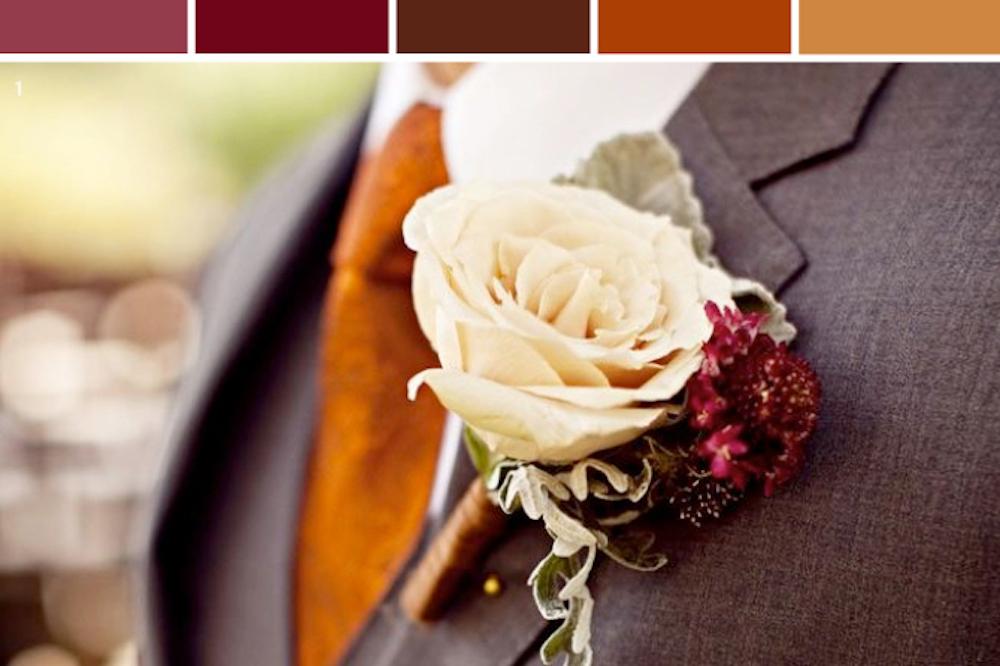 Burnt Orange and Burgundy Wedding Color Inspiration