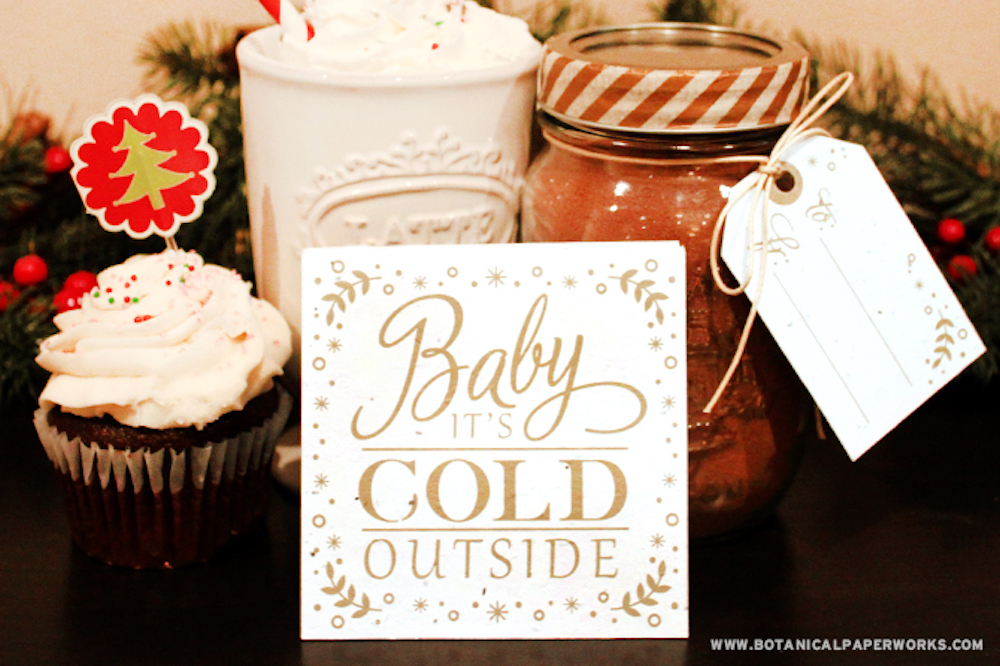DIY Gift Homemade Hot Chocolate Mix with Coasters, Recipes and Gift Tags