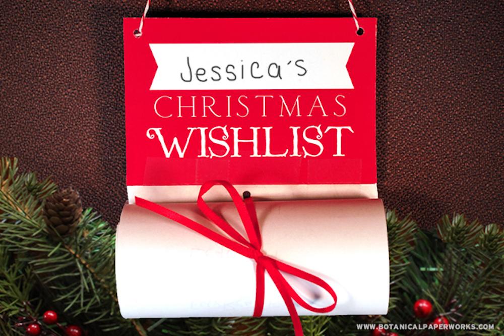 Christmas Wish List Upcycle + FREE Printable