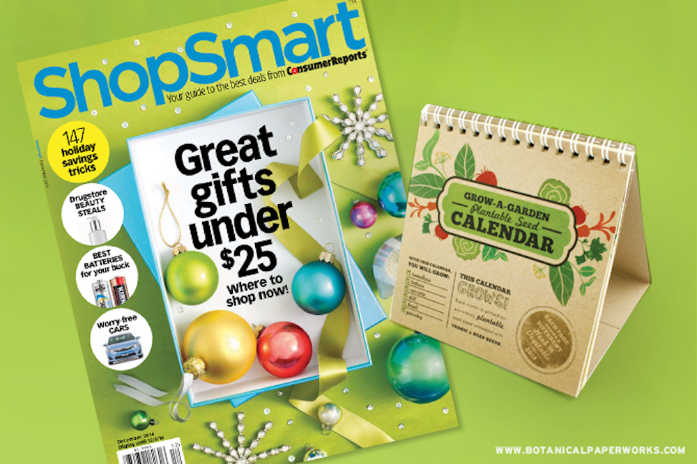Seed Paper Gift Ideas Featured In ShopSmart Magazine