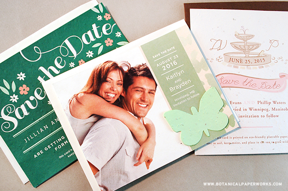 Spring & Summer Seed Paper Save The Dates Style Trends
