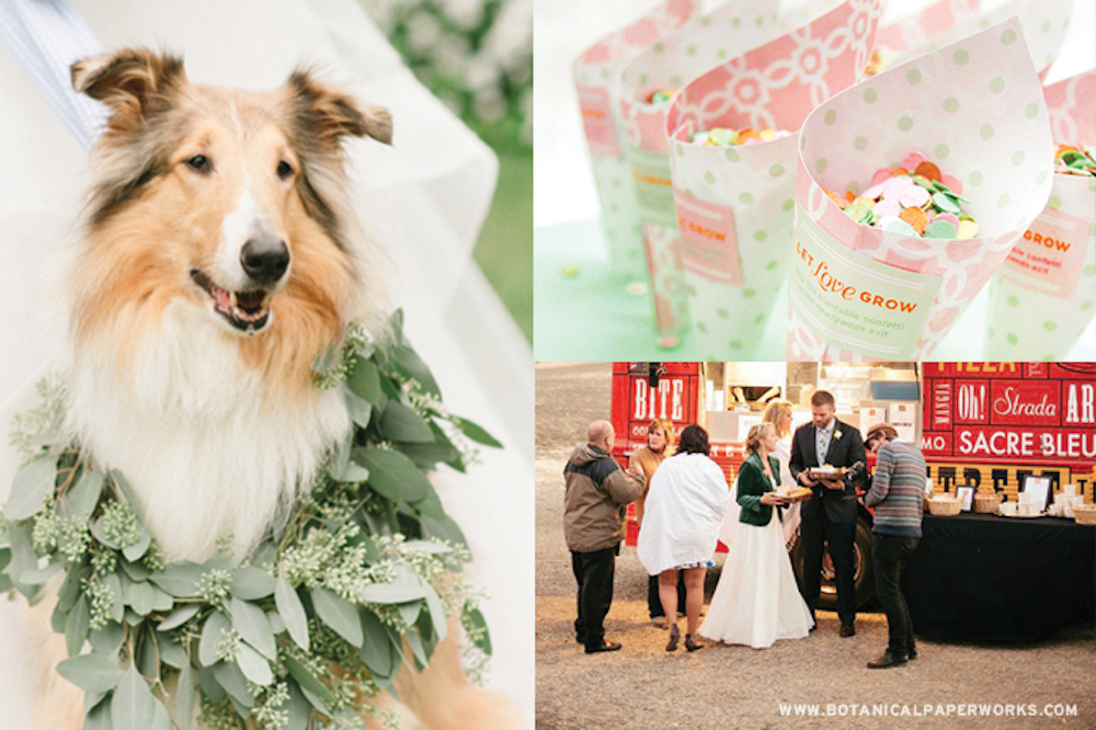 include your pet and other ways to make your wedding unique