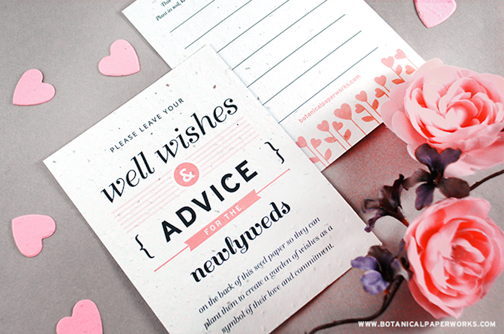 NEW Romantic & Symbolic Seed Paper Wedding Favors