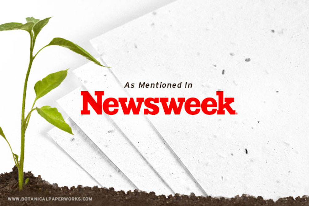 Find out why #Newsweek chose Botanical PaperWorks as their supplier of choice for #seedpaper products!