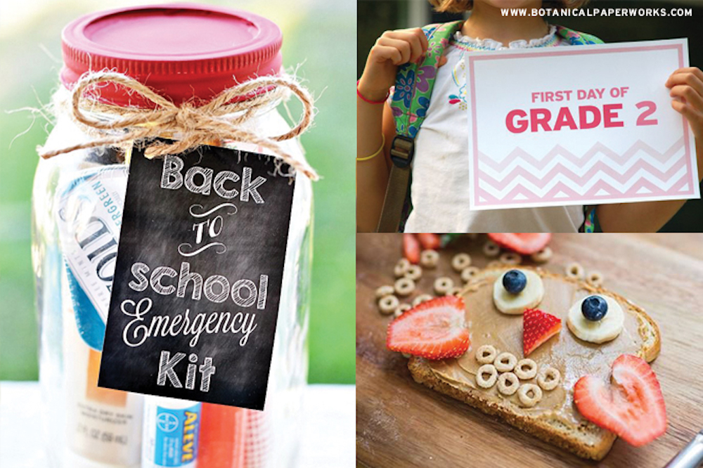 Get some inspiration to make these first day #backtoschool extra memorable for the kids this year with is roundup of fun #ideas.