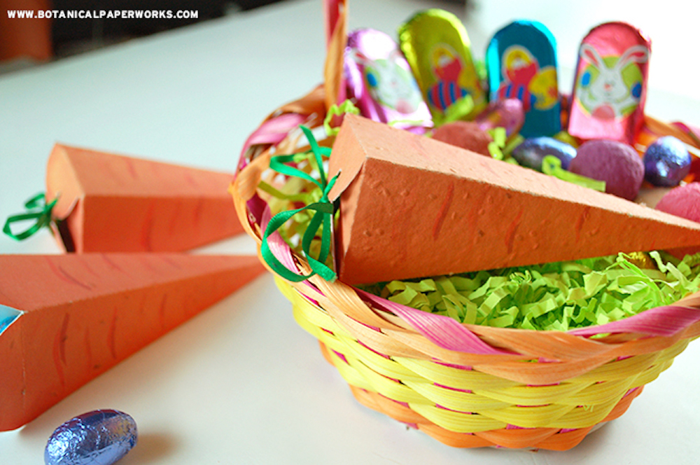 Make something special with the kids this Easter with these DIY Seed Paper Carrots that grow REAL veggies!