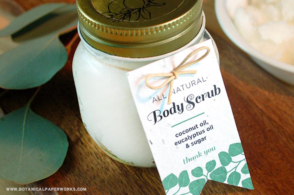 Eco friendly body scrub wedding favor